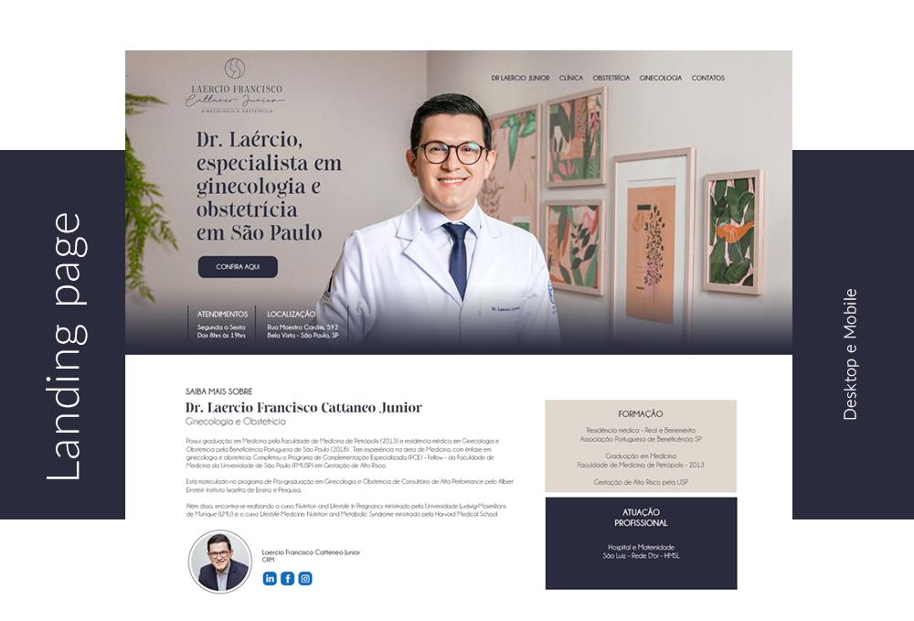 Landing page Dr. Laercio Junior
